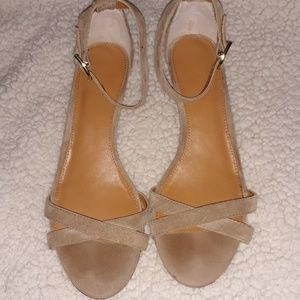 J Crew wedge shoes. Tan size 9 1/2